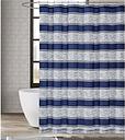 Pem America London Fog Watkins Stripe Shower Curtain, White/Blue