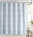 Pem America Brooklyn Loom Trevor Shower Curtain, Blue/White