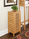 Bracken One Door Floor Cabinet, Natural