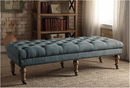 Miral Bed Bench, Gray