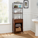 Blakely Storage Linen Cabinet, Brown