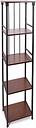 Mixed Material 5-Tier Linen Shelf, Brown