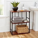 Cheyenne Mixed Material 3-Tier Wall Shelf, Black