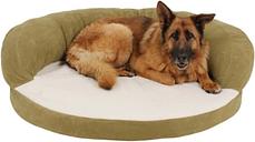 Ortho Large Sleeper Bolster Pet Bed, Sage