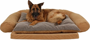 Ortho Large Sleeper Comfort Couch® Pet Bed, Caramel