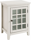 Largo Antique Finish Single Door Cabinet, Antique White
