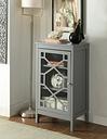 Fetti Single Door Cabinet, Gray