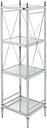 Skylar Pinnacle Four Tier Shelf, Chrome