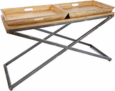Calhoun Industrial Collection Console Table, Brown