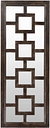 "Home Accents Geometric 27"" x 70"" x 2.25"" Mirror, Weathered Wood Finish"