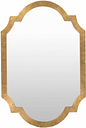 """Home Accents Goldtone 30"""" x 45"""" Mirror, Aged Gold Finish"""