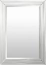 "Ramsey Beveled 39"" x 30.5"" Mirror, Silver"