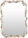 "Home Accents Embossed 40.5"" x 30.5"" x 1.5"" Mirror, Champagne"