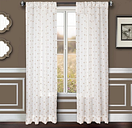 """Benson 84"""" Eyelet Panel Curtain, White Natural"""
