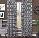 "Rochelle 84"" Sheer Panel Curtain, White Gray"