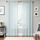 "Lyra 84"" Sheer Chevron Panel Curtain, Sky"