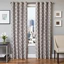 "Lapeer 84"" Jacquard Panel Curtain, Silver"