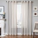 "Harbor 84"" Sheer Panel Curtain, Natural"