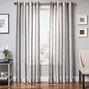 "Harbor 84"" Sheer Panel Curtain, Slate"