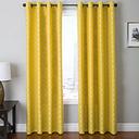 "Vaughn 84"" Jacquard Chevron Panel Curtain, Canary Yellow"