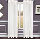"Benson 84"" Eyelet Panel Curtain, White"