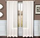 """Bizou 84"""" Sheer Panel Curtain, Rose Gold"""