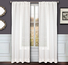 "Bizou 96"" Sheer Panel Curtain, Silver"