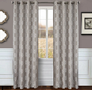 "Bexley 96"" Embroidered Panel Curtain, White Gray"