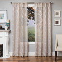 "Rochelle 96"" Sheer Panel Curtain, Champagne"