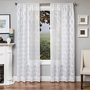 "Rochelle 96"" Sheer Panel Curtain, White"