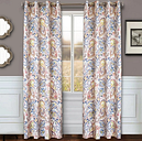 "Carlo 84"" Paisley Panel Curtain, Periwinkle"