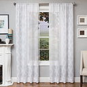 """Connor 96"""" Sheer Panel Curtain, White"""