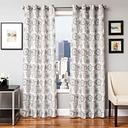 "Elaine 84"" Floral Panel Curtain, Dark Silver"
