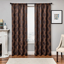 """Liam 84"""" Embroidered Panel Curtain, Chocolate"""