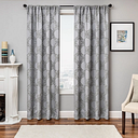 """Liam 84"""" Embroidered Panel Curtain, Gray"""