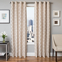 "Lapeer 84"" Jacquard Panel Curtain, Natural"