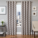 "Lapeer 84"" Jacquard Panel Curtain, Silver"
