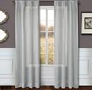 """Eleganz 96"""" Metallic Sheer Panel Curtain, Silver"""