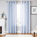 "Harbor 96"" Sheer Panel Curtain, Blue"
