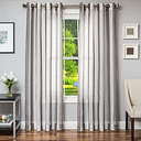 "Harbor 96"" Sheer Panel Curtain, Charcoal"
