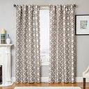 """Peyton 96"""" Jacquard Tile Panel Curtain, Designer Gray"""