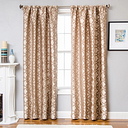"Peyton 96"" Jacquard Tile Panel Curtain, Latte"