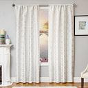 """Peyton 84"""" Jacquard Tile Panel Curtain, White"""