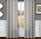 "Presidio 96"" Sheer Panel Curtain, Silver White"