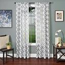"Presidio 96"" Sheer Panel Curtain, Blue White"