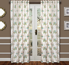 "Tropic 96"" Palm Panel Curtain, Green Blue"