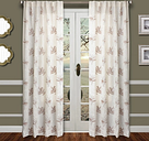 "Tropic 96"" Palm Panel Curtain, Taupe White"