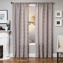 "Celestia 96"" Sheer Panel Curtain, Gray"