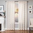 "Celestia 84"" Sheer Panel Curtain, Natural"
