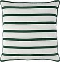 Holiday Throw Pillow, Dark Green/White